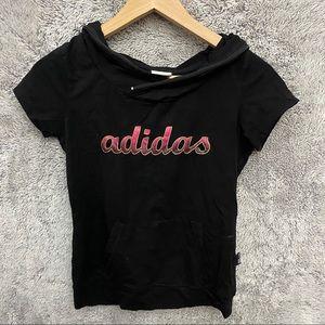 Adidas Short Sleeve Hoodie